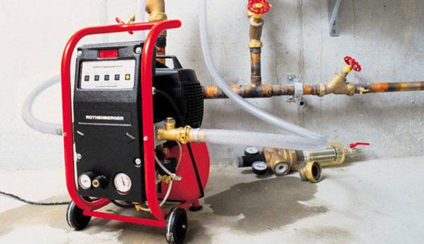 Промывка и опрессовка системы отопления