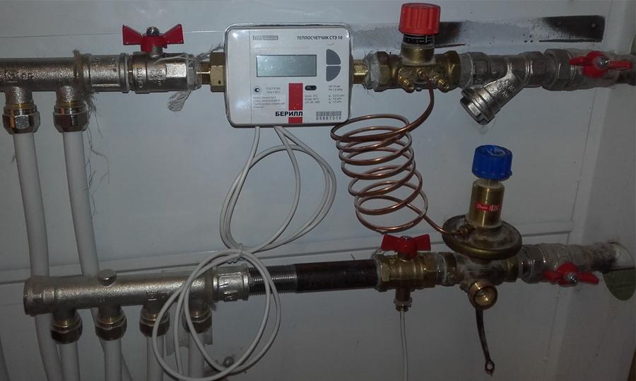 Установка и монтаж теплосчетчиков на отопление в нижнем