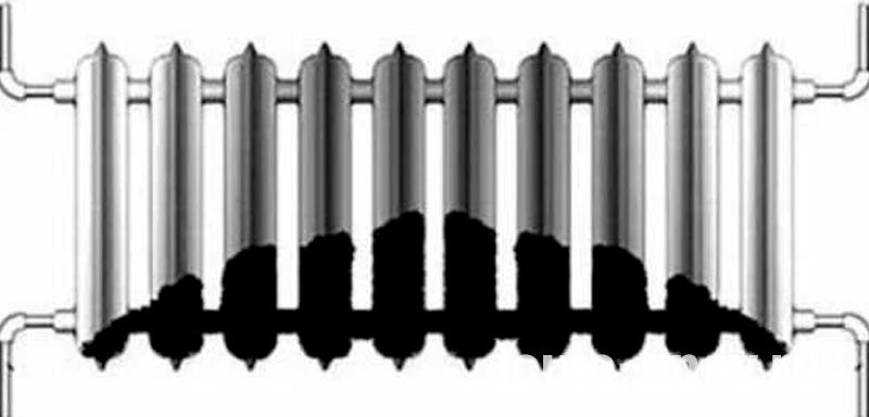 Засорение радиаторов системы отопления